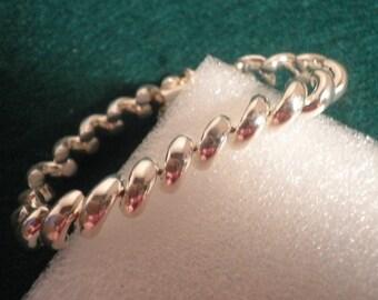 Italian Sterling Silver Wheat Chain Bracelet