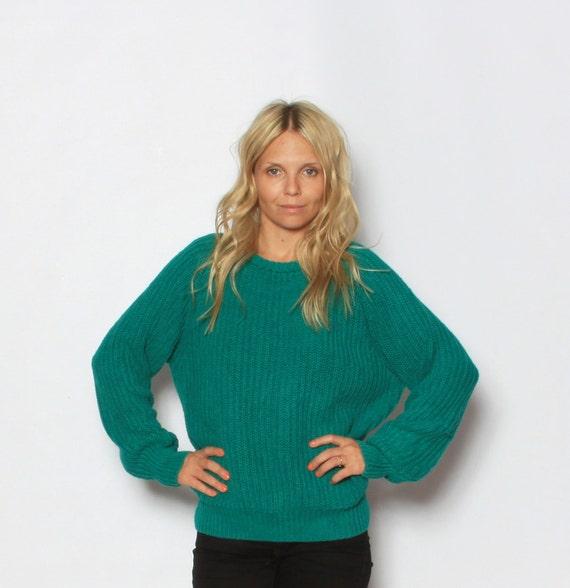 Vintage Turquoise  Gap Fisherman Sweater