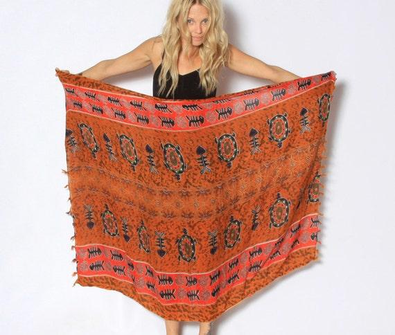 Vintage Oversize Tribal Print Scarf