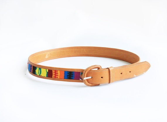 Vintage Colorful Ethnic Woven  Belt