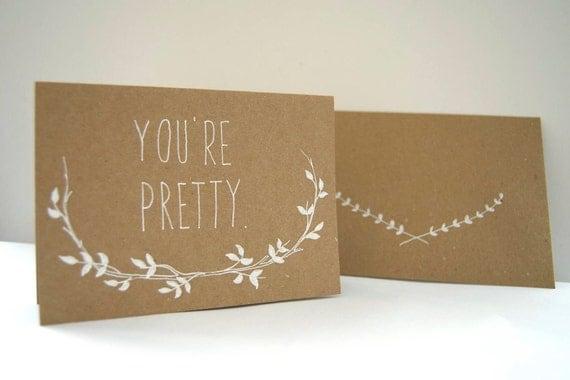 Ma Bicyclette: Buy Handmade   Birthday Cards - You're Pretty by Oh No Rachio
