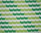 vintage fabric - olive, mint and white geometric - fat quarter