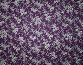 vintage fabric - retro purple and white floral