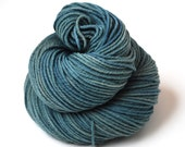 Hand Dyed Yarn Organic Merino Worsted Weight Naturally Dyed in Underwater 1