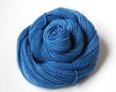 Sock Weight Organic Merino Yarn Naturally Dyed in Sky Blue