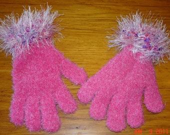 Pink Embellished Gloves