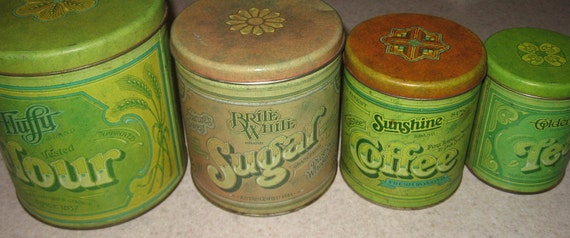 Vintage Ballonoff Canister Set 1977