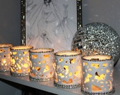 Elegant White Votive Candle Holders