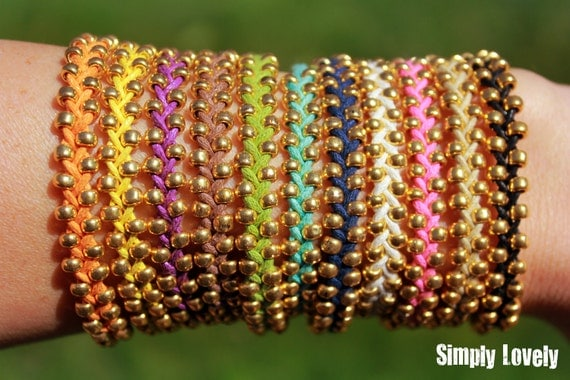 Braided Bead Bracelets - Multiple Colors   FREE SHIPPING
