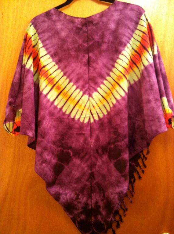 Plum Purple tie dye shrug