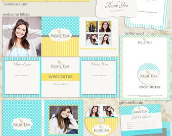 SALE --- -50% OFF ----- Modern Chic Premade Photography Marketing Set Templates