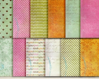 Digital Papers - Be Mine. Perfect for blog background, card making and much more.