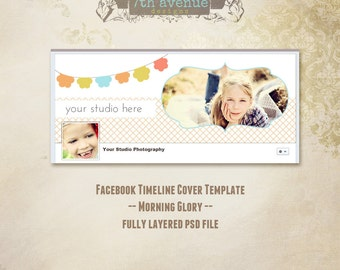 Facebook Timeline Cover Template - Morning Glory