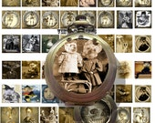 Gothic vintage collage sheet minis skulls apothecary items altered locket photos