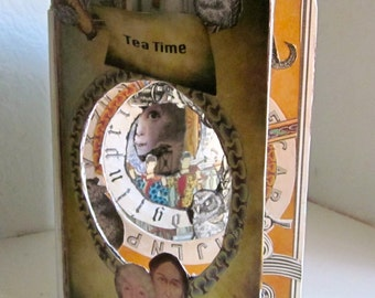 Tea Time-- A Tunnel Altered Art Book