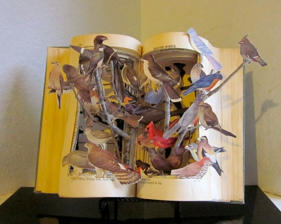 "Altered Book Autopsy ""Birds of A Feather"""