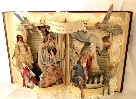 Altered Book-Shakespeare  Midsummer Night's Dream