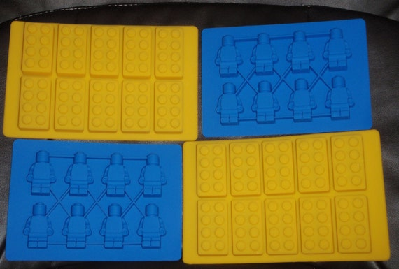 CUSTOM EXPRESS SHIPPING Silicone Minifigure Ice tray & brick mold birthday