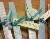 Decorative Clothes Pins for Baby Shower Games (It's a Boy)