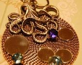 Sparkling Steampunk Necklace - Bubbles & Tentacles