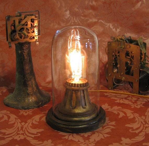 Louise brooks lulu brooksie lamp silent movie light dome art for Victorian steampunk decor