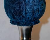 Teal Velvet  Hat Stand