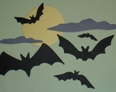 Halloween Bats and Full Moon Die Cuts for Scrapbooking and Paper Crafts Embellishments