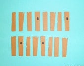 Fence Post Die Cuts x 12  Embellishments for Scrapbooking Cards and Paper Crafts