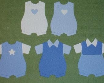 10 Small Baby Boy Romper Suit Die Cuts