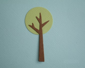 6 Tree Die Cuts for Scrapbooking and Paper Crafts Embellishment Park Woods Forrest Trees