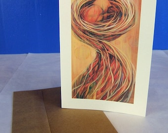 Greeting Card featuring the painting, Nesting, #8