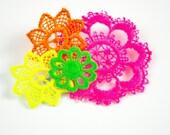 Neon vintage lace brooch