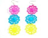 Neon Vintage three color earrings