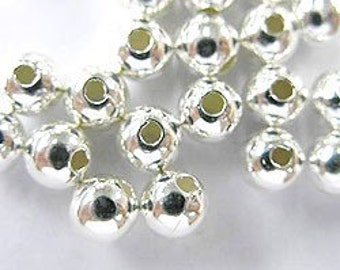 20 of 925 Sterling Silver Seed Beads 5 mm. :th0782