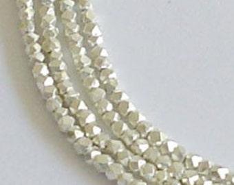 250 Karen Hill Tribe Silver Little Faceted Beads 1 mm. :kt0087