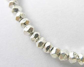 40 of Karen Hill Tribe Silver Facet Beads 2.8x2 mm. :ka2713
