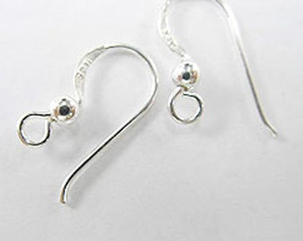 5 pairs of 925 Sterling Silver Ear Wires 8x17 mm. :th0828