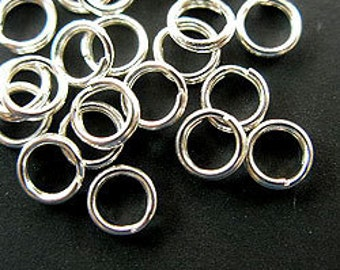 30 of 925 Sterling Silver Split Rings 4.5 mm. :th1055