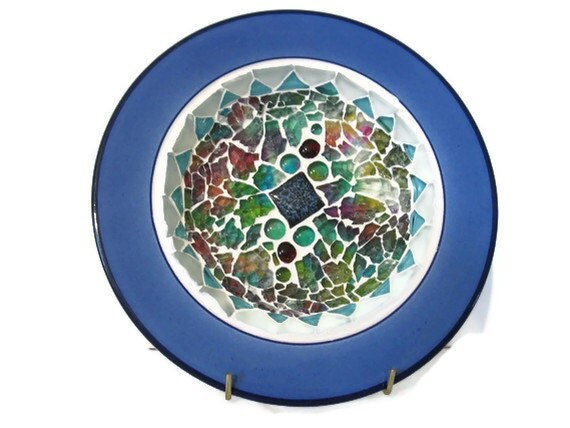 Ceramic Wall Ceramic Plate Mosaic Blue Wall