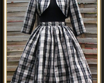 1950's style bolero jacket and skirt ensemble