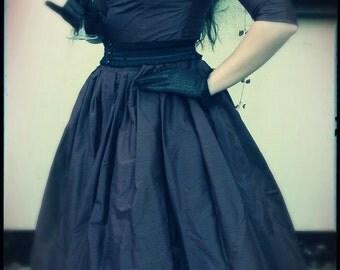1950 silk swing dress, Custom made