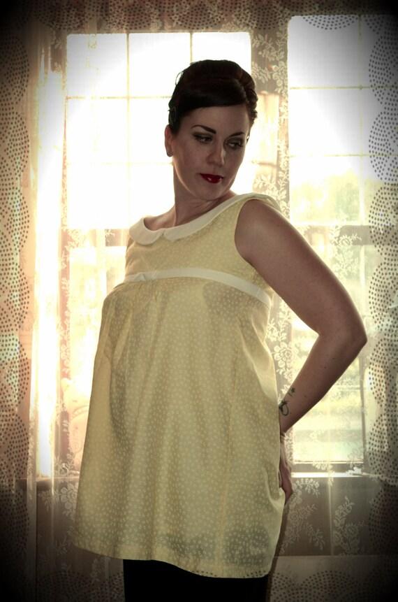 1950's Maternity shirt 'Betty'  CUSTOM MADE