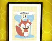 Fox print Personalized for your child