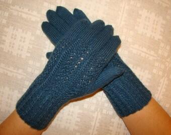 Women gloves- hand knitted, warm, soft