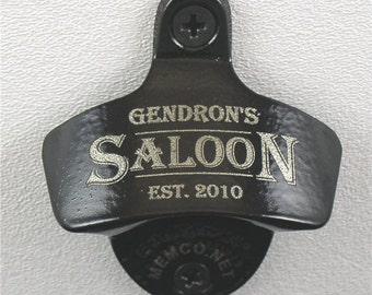 Groomsmen Gifts - Bottle Openers - set of 4 - with capcatchers