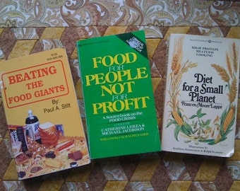 3 Vintage Controversial Food Production Books Very Interesting Sustainable Small Planet  Food Giants  Food Crisis