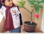 No Serger - PDF Pattern - Umi Scarf and Hoodie for 12M - 10T and tutorial.