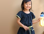 PDF Pattern - Alexis Dress for 12M - 5T and tutorial.