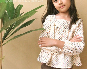 PDF Pattern - Laila for 4 - 10 years old and tutorial.
