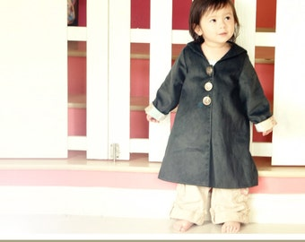 No Serger - PDF Pattern - Sailor Jacket for 12M - 5T and tutorial.